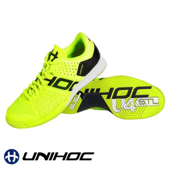 Unihoc Schuh U4 STL LowCut neon gelb