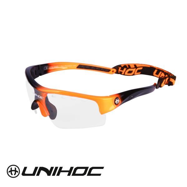 Unihoc Sportbrille VICTORY Kids orange / schwarz