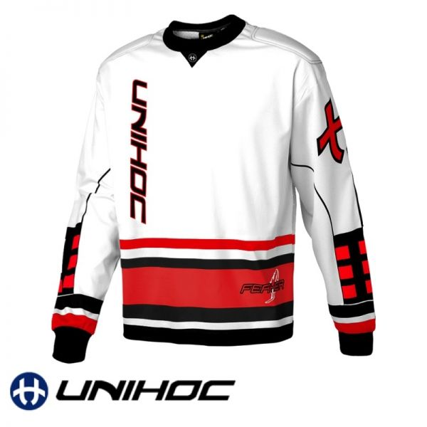Unihoc FEATHER TW-Pullover weiß/rot