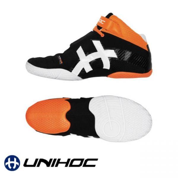 Unihoc Schuh U3 GOALIE orange/schwarz