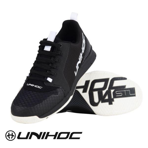 Floorball Schuh Unihoc Schuh U4 PLUS LowCut schwarz