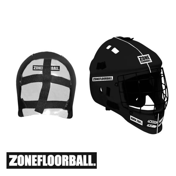 Floorball Helm - Zone PATRIOT Maske schwarz