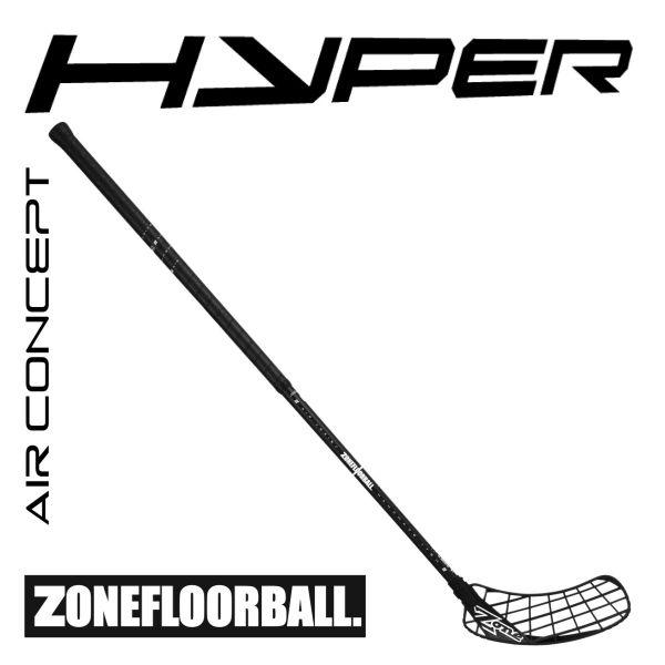 Floorball Schläger Zone HYPER AIR Superlight 27 D+ schwarz