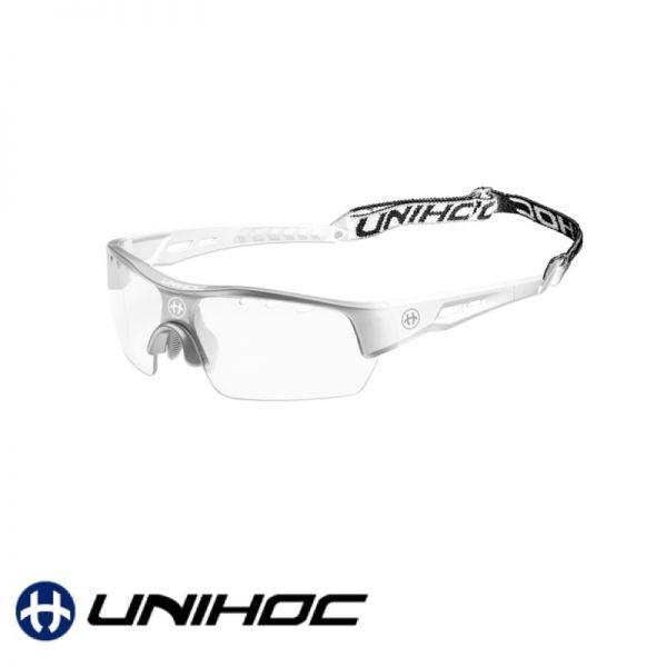 Unihoc Sportbrille VICTORY Senior Silber / Weiß