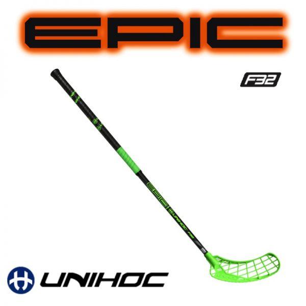 Floorballschläger Unihoc EPIC 32 grün