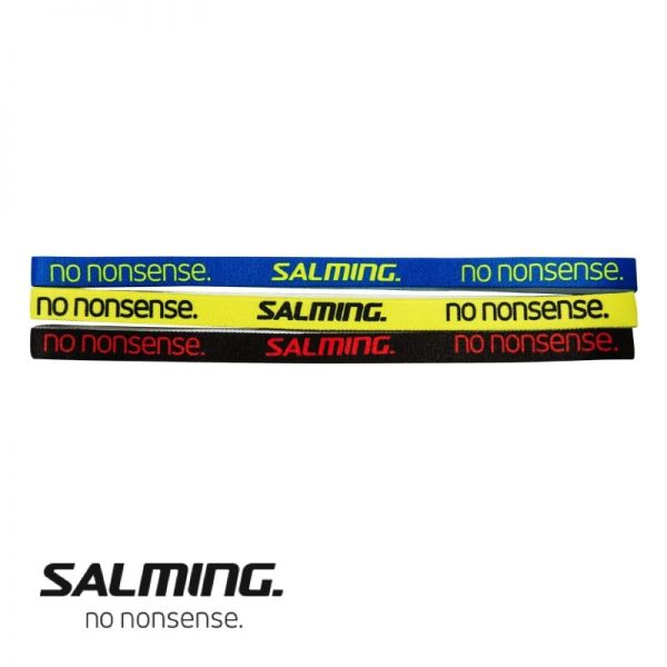 Salming Haarband SLIM Blau/Gelb/Schwarz (3er Pack)