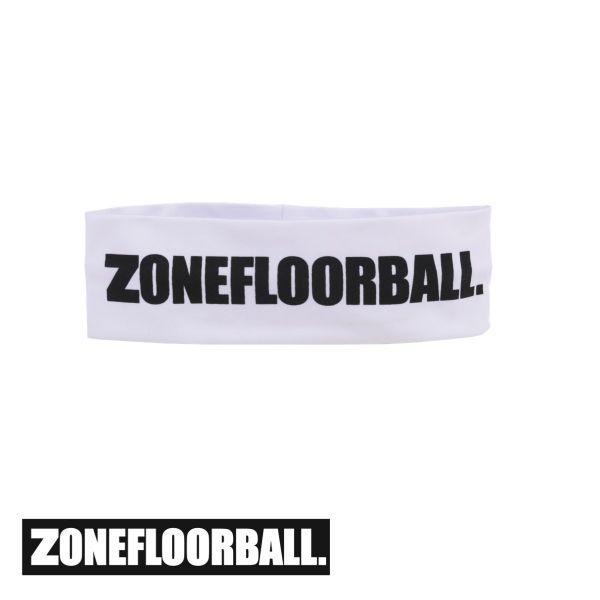 Zone Stirnband LOGO HUGE mid weiß