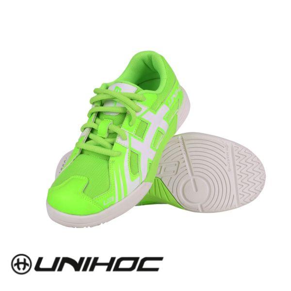 Unihoc Schuh U3 JUNIOR neon grün