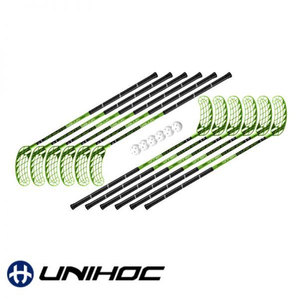 Unihockey Schul-Set - Unihoc WINNER  grün