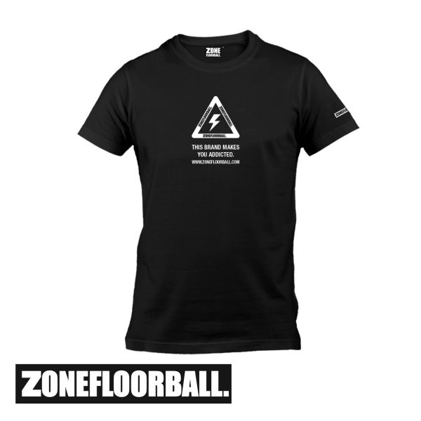 Zone T-Shirt WARNING schwarz