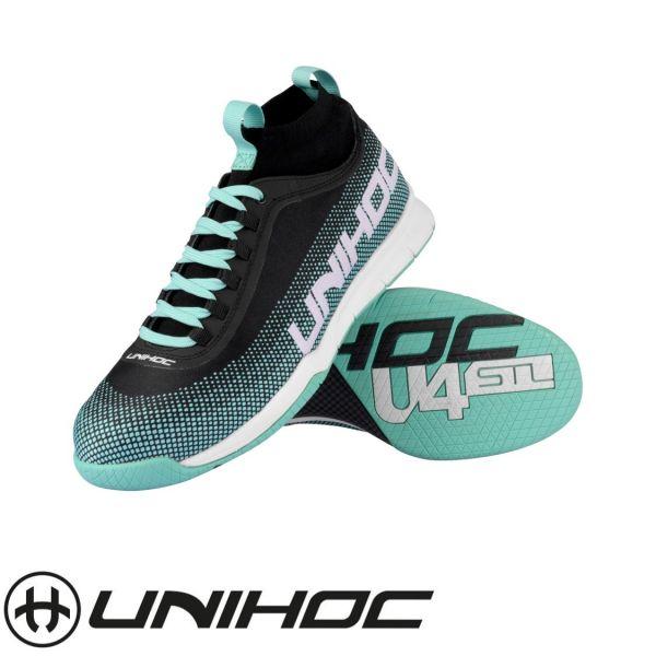 Unihoc Schuh U4 STL MidCut türkis