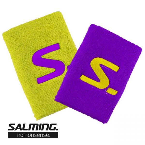 Salming Schweißband SHORT (2er Pack) Lila/Gelb