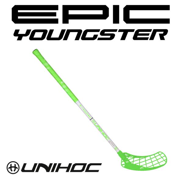 Floorball Schläger - Unihoc EPIC Youngster 36 neon grün weiss