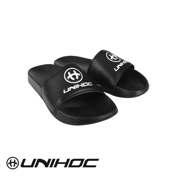 Unihoc Schlappen SLIPPERS schwarz