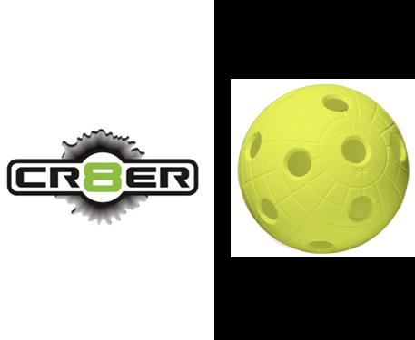 Offizieller WM-Floorball Reactor CR8TER neon gelb