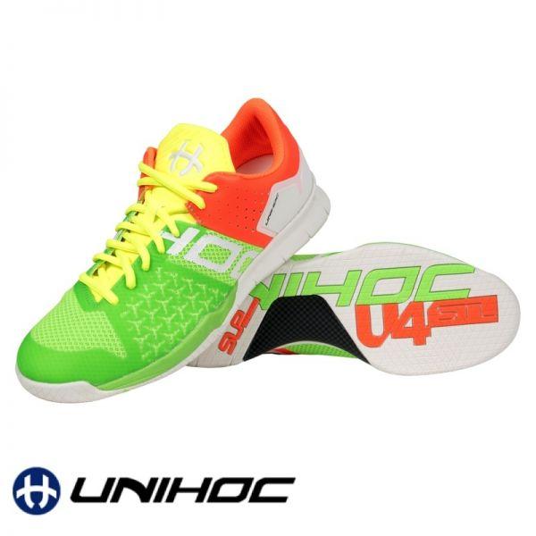 Unihoc Schuh U4 STL LowCut Mixed Neon