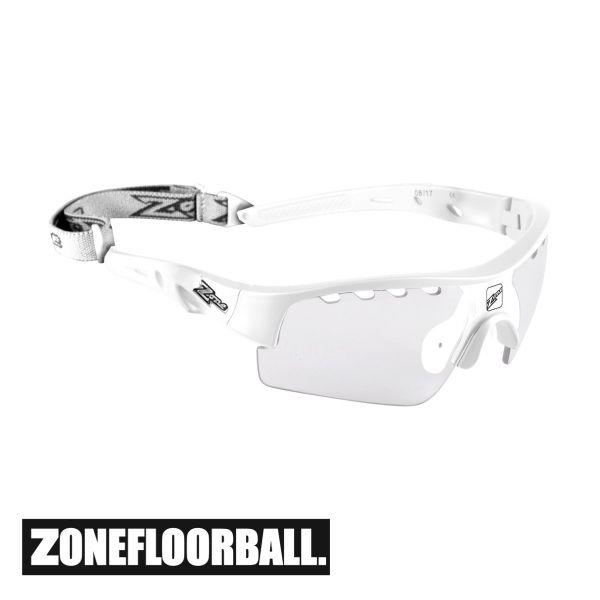 Zone Floorball Sportbrille MATRIX Junior weiß