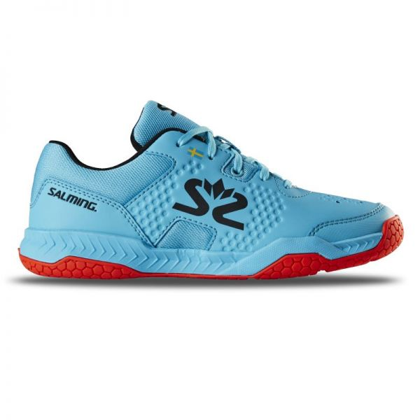 Salming Schuh HAWK COURT JR. blau/rot