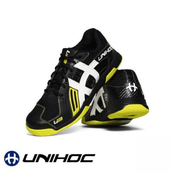 Unihoc Floorball Schuh - Power gelb/schwarz