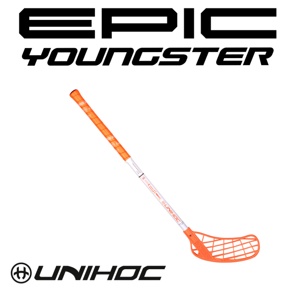 Unihoc EPIC Youngster 36 neon orange/weiß