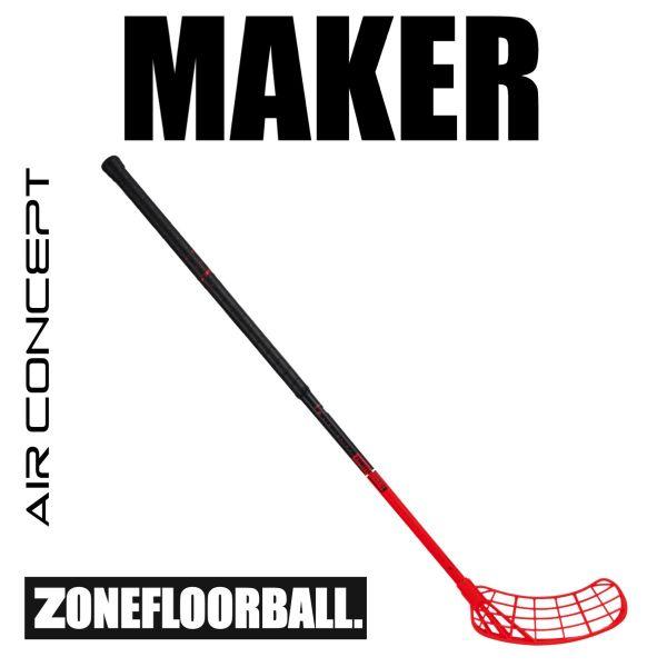 Floorballschläger Zone MAKER AIR 29 schwarz/rot
