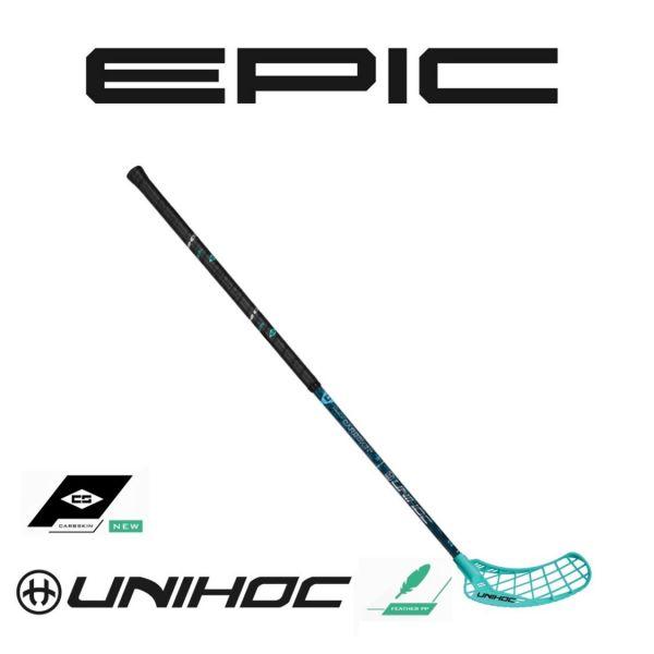 Unihoc Floorball Schläger EPIC Carbskin Featherlight 29 türkis