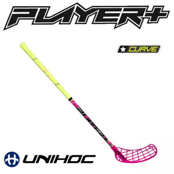 Unihoc PLAYER+ Curve 1.5 35 pink