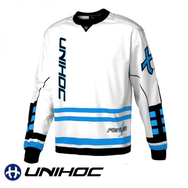 Unihoc FEATHER TW-Pullover weiß/blau