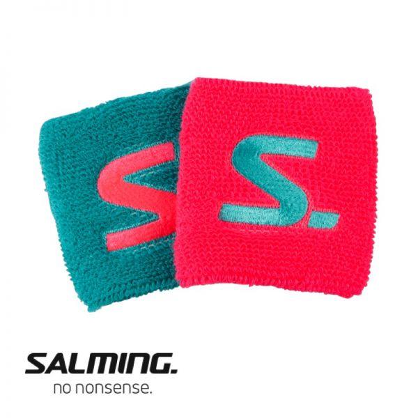 Salming Schweißband SHORT (2er Pack) Türkis/Pink