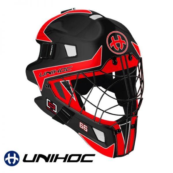Unihoc OPTIMA 66 Maske schwarz/rot