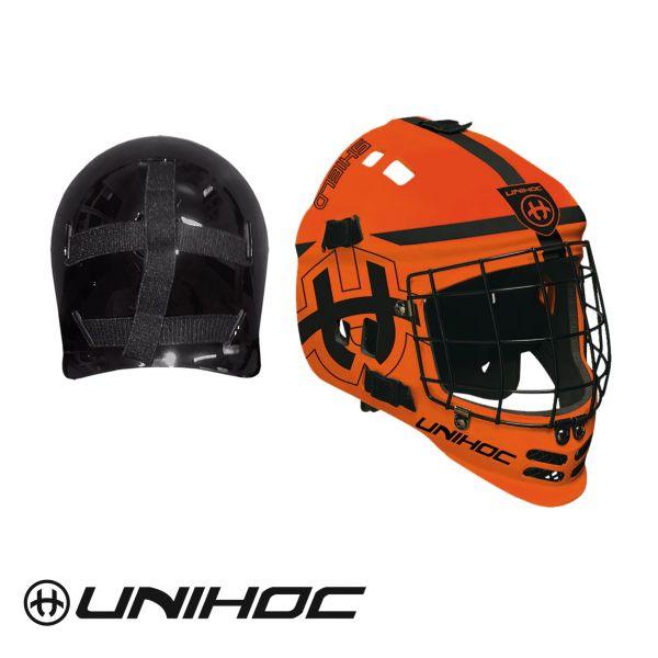 Floorball Torhüter Helm - Unihoc Shield orange