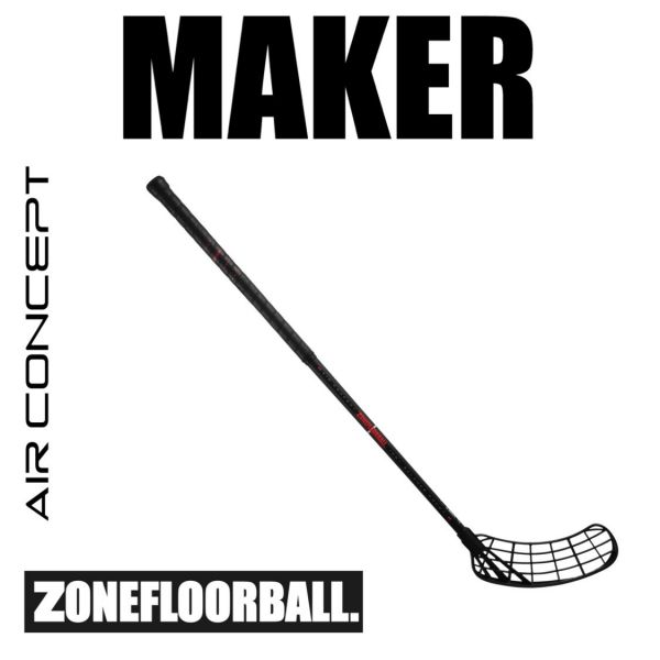 Zone MAKER AIR Superlight 27 schwarz/rot Edt.