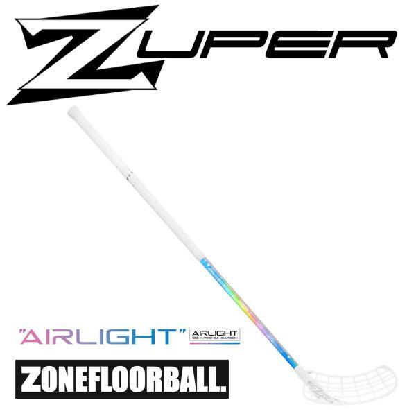 Floorball Schläger Zone ZUPER Airlight 27 weiß/hologram