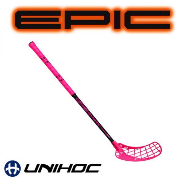 Kinder Floorball Schläger Unihoc EPIC Youngster 36 neon pink