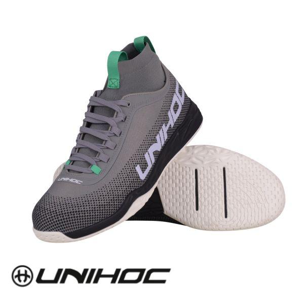 Floorball Schuhe Unihoc U5 Midcut Pro Men grau