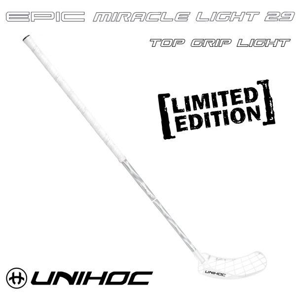 Floorball Schläger - Unihoc EPIC Miracle Light 29 weiß silber