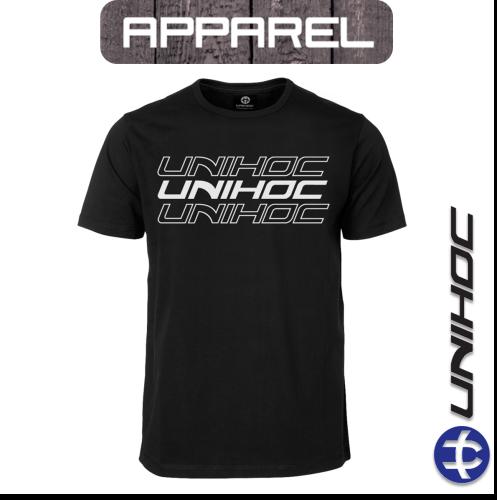 T-Shirt Unihoc TRIPLE black Junior