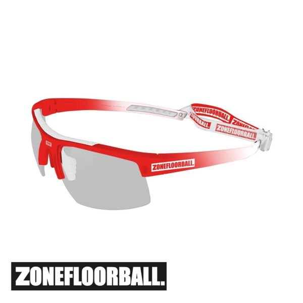 Zone Sportbrille PROTECTOR Kids weiß/rot