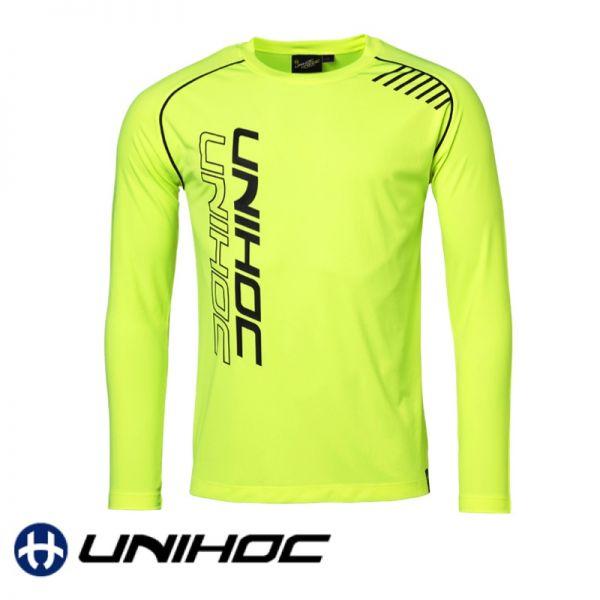 Unihoc T-Shirt WARM-UP Longsleeve neon gelb