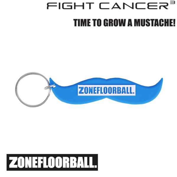 Zone Schlüsselanhänger FIGHT CANCER blau