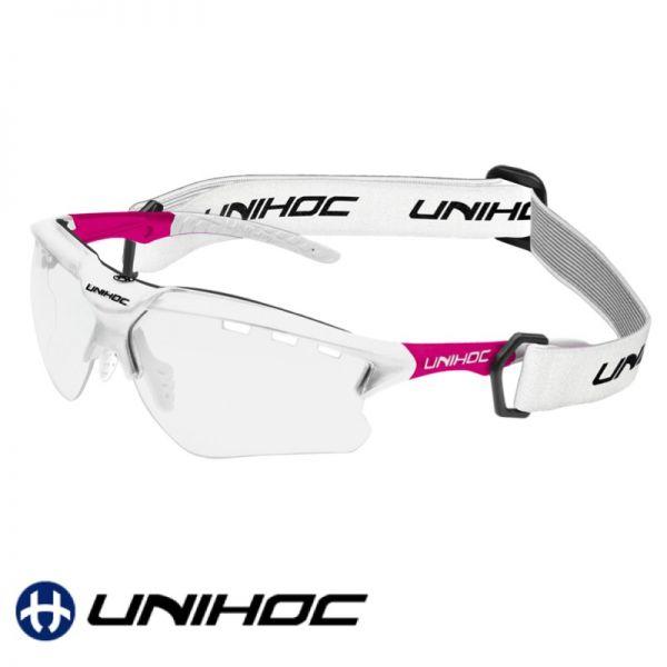 Unihoc Sportbrille X-RAY Senior weiß/pink