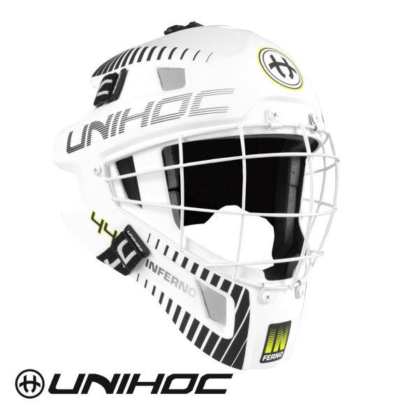 Unihoc INFERNO 44 Maske weiß/schwarz