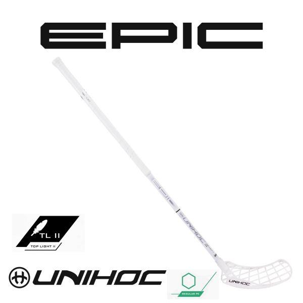 Floorball Schläger - Unihoc Epic Toplight 2 26 weiß silber