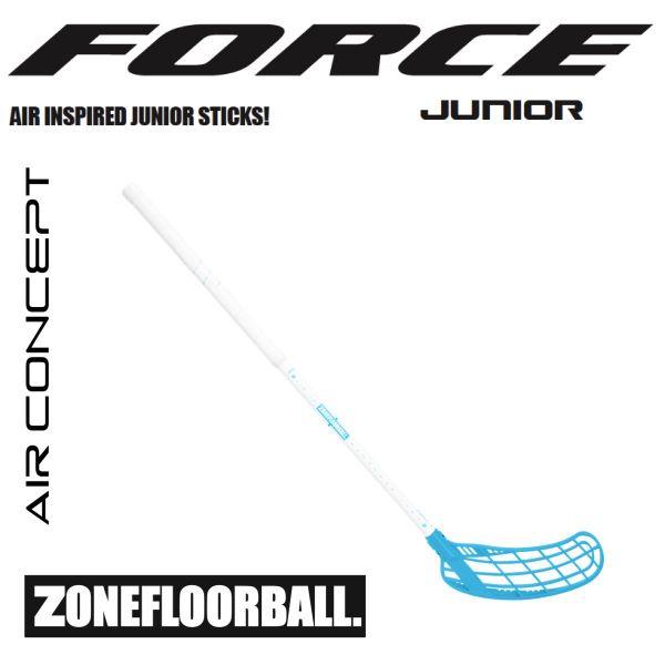 Kinder Floorballschläger Zone FORCE AIR JR. 35 weiß/blau