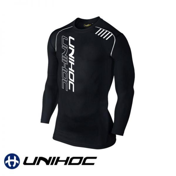 Unihoc T-Shirt COMPRESSION Longsleeve schwarz