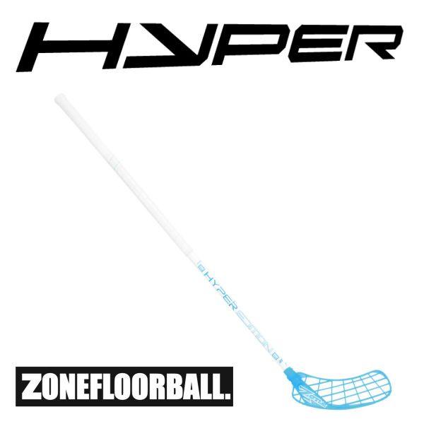 Floorball Schläger für Anfänger Zone HYPER Composite 27 weiß/eisblau