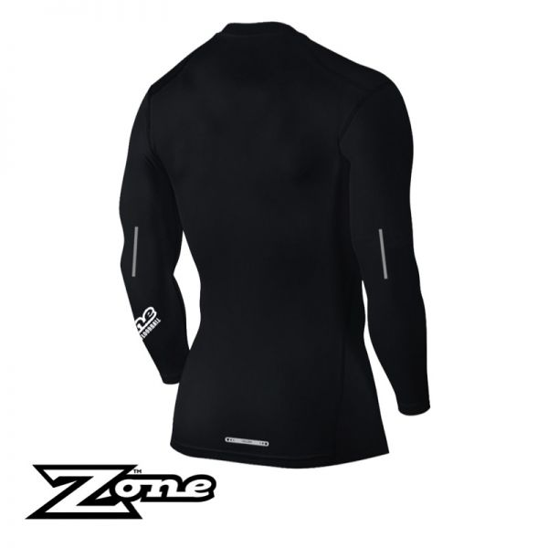 Zone T-Shirt COMPRESSION Longsleeve schwarz