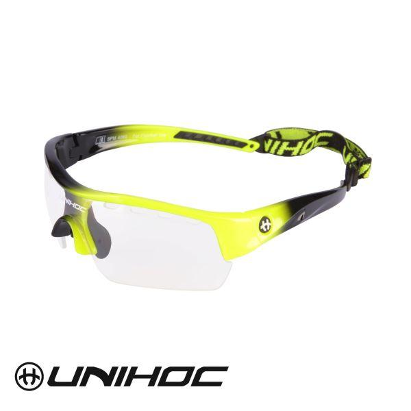Unihoc Sportbrille VICTORY Junior gelb / schwarz