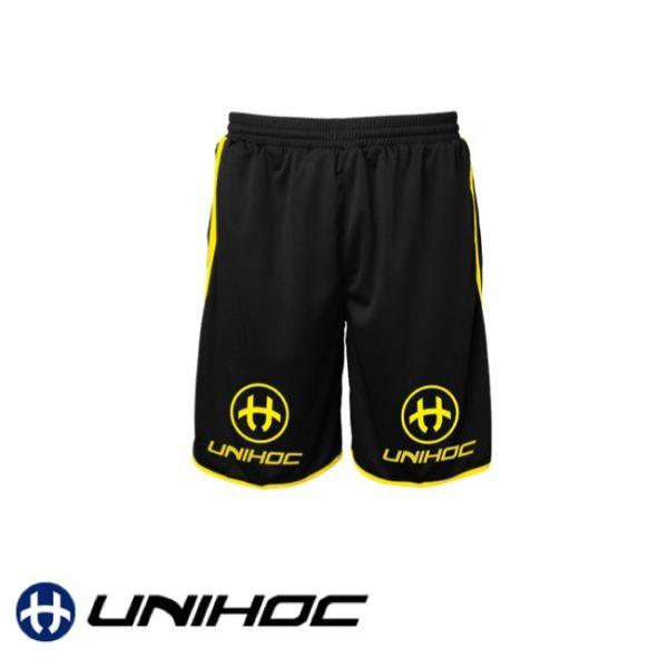 Unihoc Shorts DOMINATE neon gelb