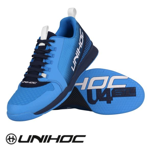 Unihoc Floorball Schuh U4 PLUS LowCut blau